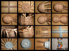 Willow Weaving, Basket Weaving, Newspaper Crafts, Diy And Crafts, Crochet, Artwork, Baskets, Banana, Home Decor