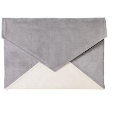 Clutch bag envelope grey pink pastel vegan leather bag faux leather... ($33) ❤ liked on Polyvore featuring bags, handbags, clutches, evening handbags clutches, suede handbags, grey purse, evening purses and pink handbags