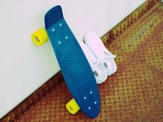 penny board and sneakers
