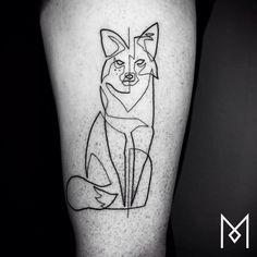 Artista cria tatuagens com apenas uma linha para mostrar a beleza da simplicidade | Tá Bonito
