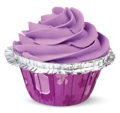 ColorCups Double Ruffle Standard Baking Cups Purple Floral 12ct.