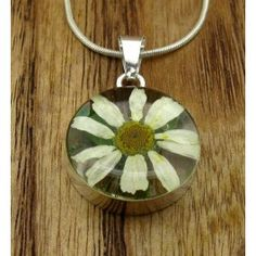 Circle Daisy Flower Silver Pendant (Small) | Handmade Mexican jewellery from Silver Bubble http://silverbubble.co.uk/round-flower-silver-pendant-small-5467
