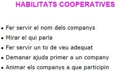 Habilitats cooperatives per penjar a l'aula i que els alumnes tinguin en compte!