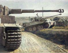 WWI & WWII Military History & Posts I Enjoy. — bmashina: German tank commander gets camo. Panzer Tattoo, Pin Ups Vintage, Tiger Ii, War Thunder, Military Armor, Tiger Tank, Ww2 Photos, Ww2 Tanks, Battle Tank