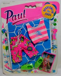 HASBRO 1990 SINDY SPORTSWEAR FOR PAUL FASHION FASHIONS EUROPEAN C-222 MOC SEALED #Hasbro #ClothingAccessories
