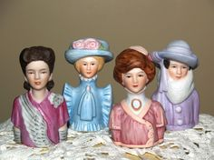 Vintage Collectible Avon American Fashion Lady Thimbles (Set of 4 ...  I have this set of Thimbles .