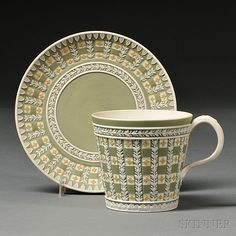 Wedgwood Three-color Jasper Diceware Cup and Saucer