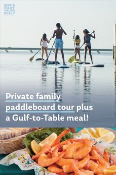 Private family paddleboard tour plus a Gulf-to-Table meal! Florida Vacation Spots, Florida Travel, Us Beaches, Florida Beaches, Destin Florida, Beach Adventure, Family Adventure, Fort Walton Beach Florida, Charter Boat