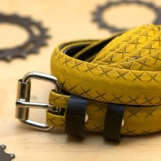 tire planters | This is unique yellow tire belt is made from a used road bike tire ...