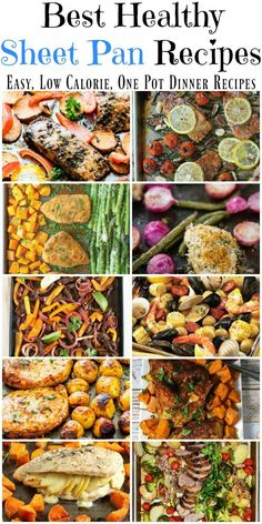 One sheet pan is all you need to make a healthy dinner. Get out a big sheet pan, fill it with protein and vegetables. Throw it in a hot oven and you have a low calorie dinner on the table in no time. [from FoodDoneLight.com]: