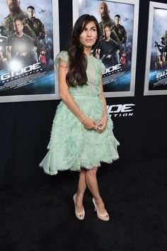 """Elodie Yung Photos Photos - Actress Elodie Yung attends the premiere of Paramount Pictures' """"G. Joe: Retaliation"""" at TCL Chinese Theatre on March 2013 in Hollywood, California. Joe: Retaliation' Premieres in Hollywood Elodie Yung, Danielle Panabaker, Bold And The Beautiful, Beautiful Women, Paramount Pictures, Dwayne Johnson, Gal Gadot, Girl Crushes, Hollywood Actresses"""