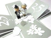 Geldgeschenk Explosionsbox zur Silbernen Hochzeit