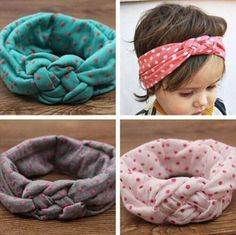 kids headbands on sale at reasonable prices, buy Top newborn girl cotton turban fabric elastic hair band dots knot headwear turban hairbands kids headbands accessories headdress from mobile site on Aliexpress Now! Toddler Headbands, Newborn Headbands, Baby Girl Headbands, Elastic Headbands, Baby Boy Winter Hats, Baby Girl Hats, Baby Girls, Kids Girls, Baby Hats Knitting