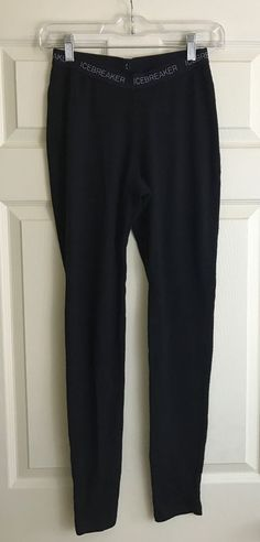 Icebreaker Bodyfit 260 Black Merino Wool Leggings Long Underwear Women's Sz M #Icebreaker #BaseLayers