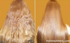 before and after hair lamination