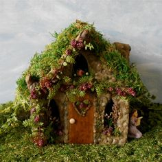 Berry Hill Valentine Fairy House for your Fairy or Miniature Garden