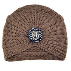 Metal Jewel Soft Knit Crochet Headwrap