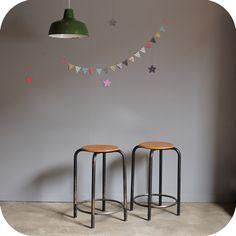 Tabouret D Atelier Vintage C328 Chaise Vintage Chaises Renovees Tabouret