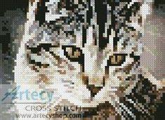 Mini Cute Cat Cross Stitch Pattern