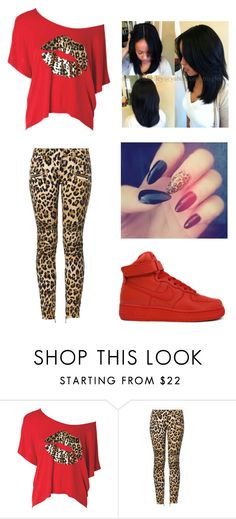 """"""""""" by lexiswagg on Polyvore featuring Balmain and NIKE"""