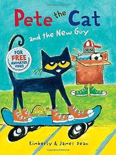 Pete the Cat and the New Guy by James Dean http://www.amazon.com/dp/0062275607/ref=cm_sw_r_pi_dp_-DJ4tb0H1J9N2