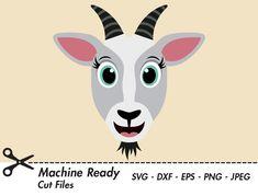 Goat Cartoon, Happy Goat, Boer Goats, Face Template, Preschool Arts And Crafts, Raising Goats, Cute Goats, Cow Face