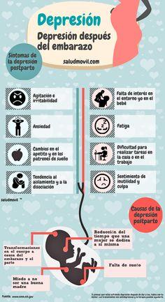 Infográfico sobre depresión postparto