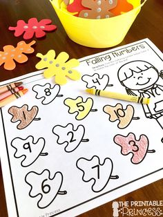 Easy Fall Centers for Kindergarten {Plus Some Fall Freebies}! You're going to love these easy fall centers for Kindergarten students and homeschool families! Thanksgiving Activities, Autumn Activities, Preschool Activities, Subitizing Activities, Counting Activities, Fall Preschool, Preschool Math, Preschool Seasons, Seasons Activities