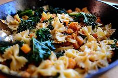 Butternut Squash and Kale Pasta