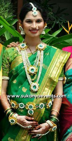 Golden Real Flower Jewellery