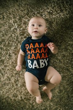 Daaaa Baby // Chicago Bears Baby Onesie Infant Shoulder by chitownclothing