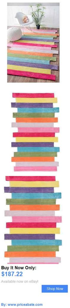 Kids Rugs: Rugs For Kids Room Or Teen Girls Area Rug 5 X 8 Pink Accent For Nursery Children BUY IT NOW ONLY: $187.22 #priceabateKidsRugs OR #priceabate
