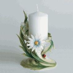 "franz  collection/ladybug | Franz Collection Ladybug 3"" Pillar Candle Holder by Franz Porcelain ..."