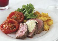 Beef Fillet with Horseradish, Lemon & Thyme Cream Sauce
