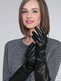 leather gloves: Photo