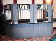 Cashier Cage - Casino Night Props - Props and Decor - Money Booth - Money Cage - Cashier Booth - Ticket Booth - Ticket Counter - Casino Props - Maryland Rentals - DC Metro Area - Bethesda - Virginia - Rockville - Montgomery County - Arlington