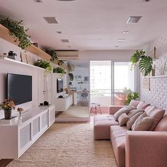 Here are some doable living room decor and interior design tips that will make your home cozy and comfortable for family and friends. Tiny Living Rooms, Condo Living, Home Living Room, Living Room Decor, Small Living, Modern Living, Condo Interior, Interior Design, Deco Pastel