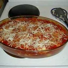 A CREAMY BLEND OF COTTAGE CHEESE, MOZZARELLA, PARMESAN AND EGGS IS SEASONED WITH GARLIC POWDER, OREGANO AND PARSLEY, THEN STUFFED INTO MAGNIFICENT JUMBO SHELLS OF PASTA. SIMPLY BLANKET WITH SPAGHETTI SAUCE, SPRINKLE WITH PARMESAN AND BAKE.