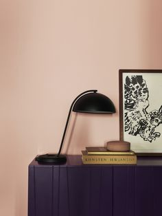 Pink and purple makes a beautiful combination. The wall is painted in the color Old Rose from Alcro.