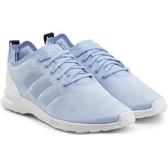 Adidas Originals ZX Flux Smooth Sneakers ($77) ❤ liked on Polyvore featuring shoes, sneakers, blue, laced shoes, blue sneakers, lace up sneakers, adidas originals shoes and laced sneakers