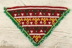parche bordado artesanal india abalorios cuenta por azulcasinegro