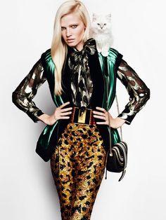 Lara Stone by Mario Testino for Vogue UK August 2015