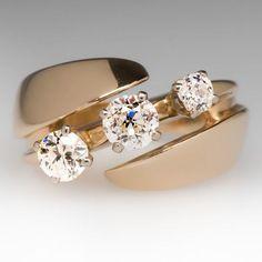 Three Stone Heirloom Diamond Ring