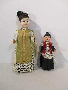 Priest Dolls Vintage Open Close Eyes Vestiments Marcie Doll Set of 2 #Dolls