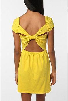 Sparkle & Fade Knit Bow-Back Dress.
