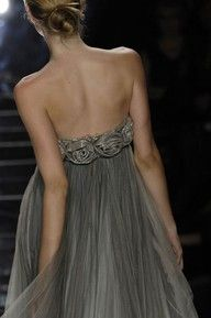 chiffon detail. love the open back