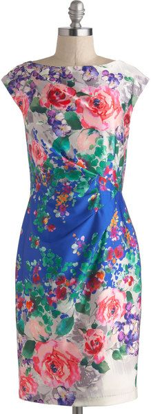ModCloth Floral Reflections Dress