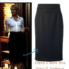 SALE black knee length pencil skirt Very simple but gorgeous all black pencil skirt! Skirts Pencil