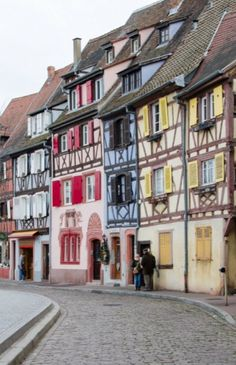 "This marvelous streetview is from our feature ""Christmas in Colmar"""