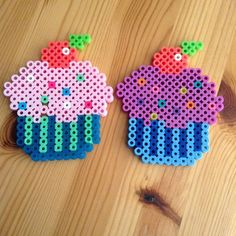 Cupcakes perler beads by  perlerbeadexpert